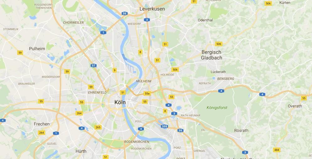 Screenshot Google Maps Köln