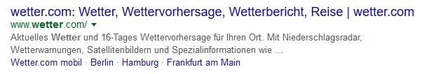 Meta-Description Beispiel