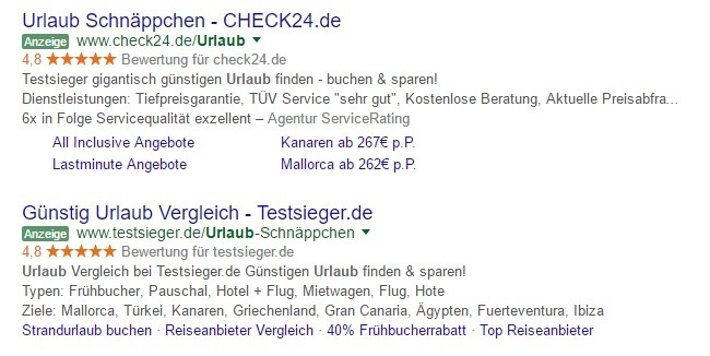Adwords Bewertung